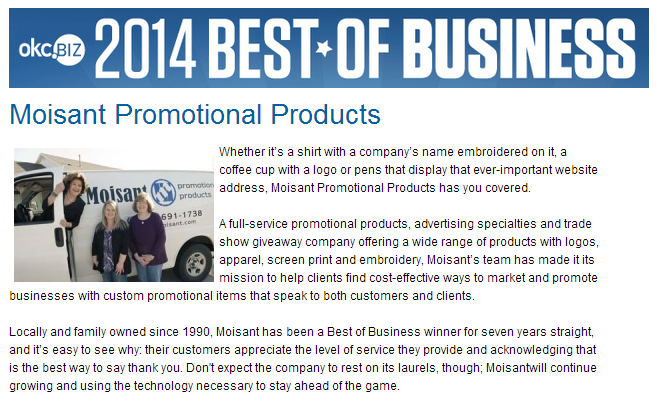 2014 BEST OF BUSINESS